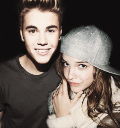 Justin with Barbara Palvin
