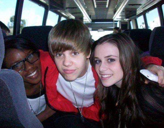 Justin Bieber with Caitlin Beadles