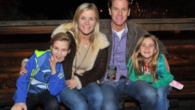Alison Sweeney David Sanov and their children