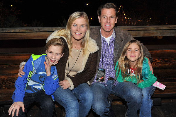 Alison Sweeney David Sanov and their children