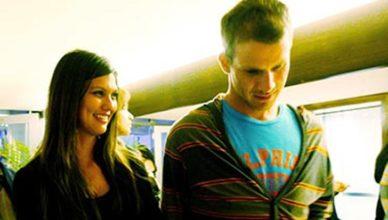 Daniel Tosh and his girlfriend Megan Abrigo