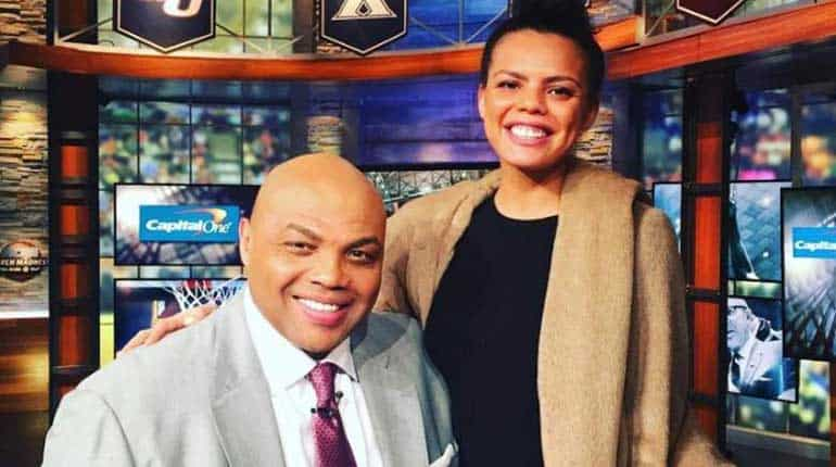 Christiana Barkley with her father Charles Barkley