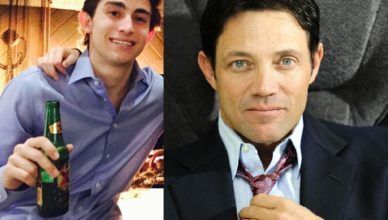 Jordan Belfort and his son Carter Belfort