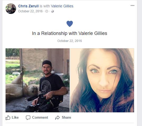 Valerie Gillies Relationship Chris Zerull