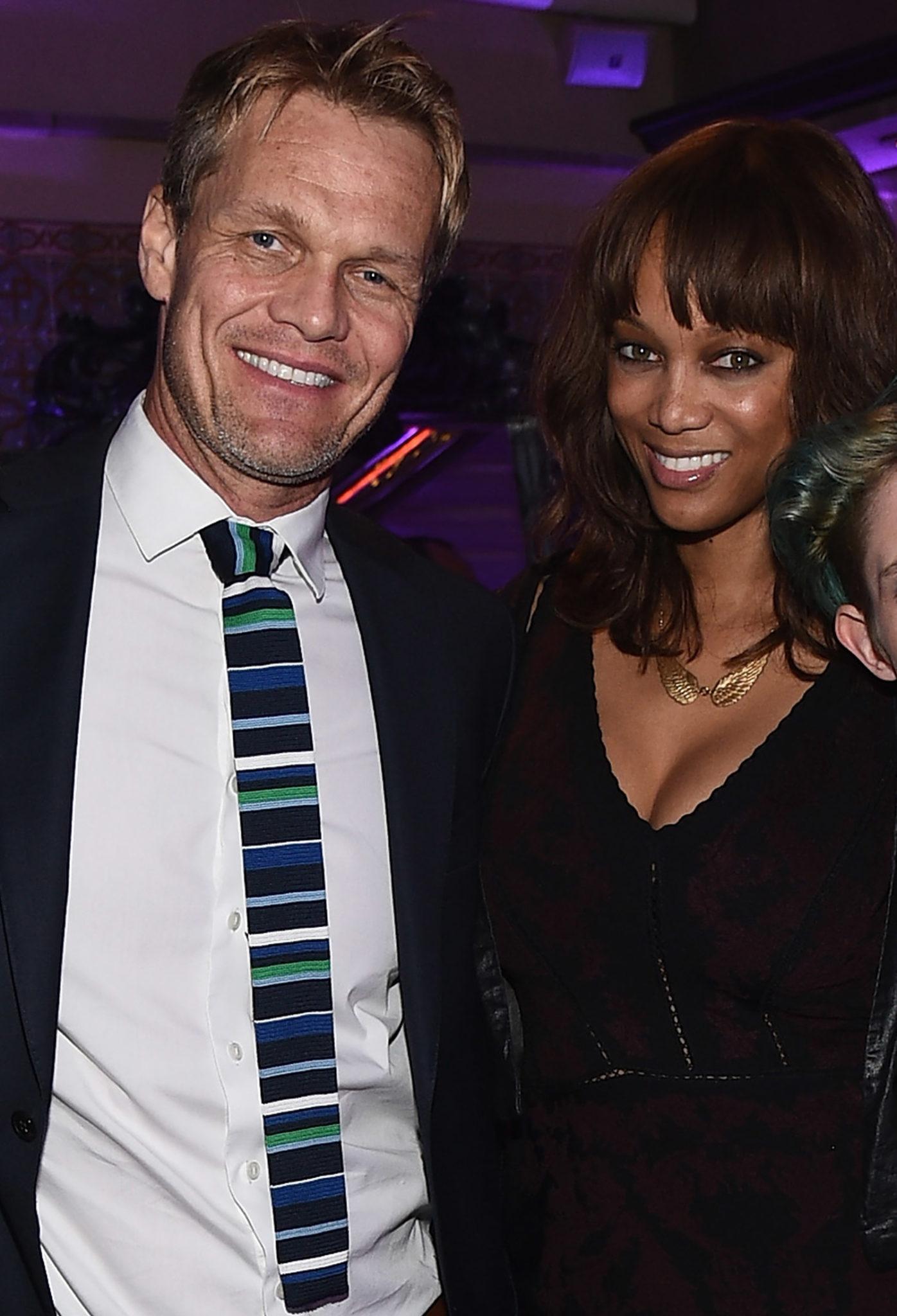 Erik Asla and Tyra Banks