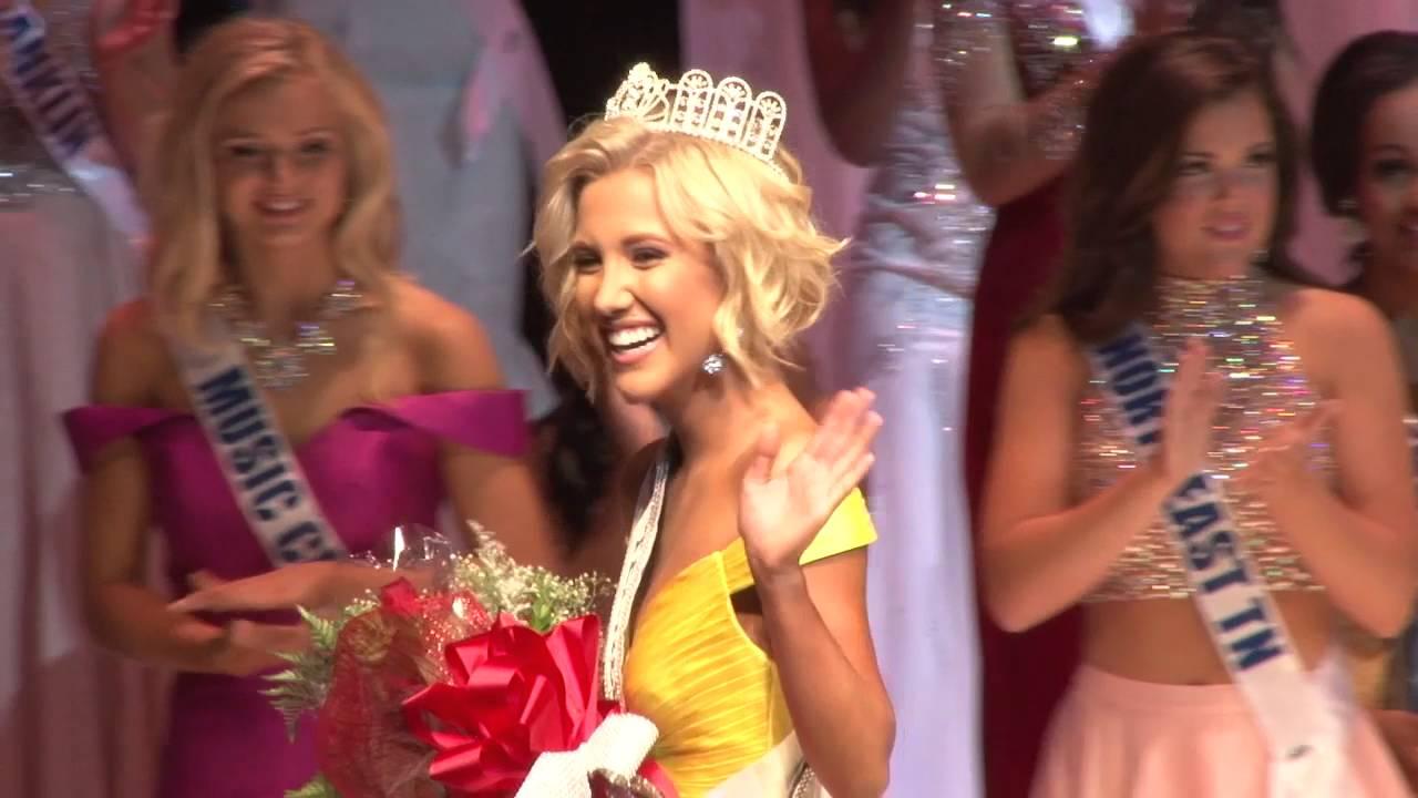 Savannah after winning Miss Tennessee Teen USA