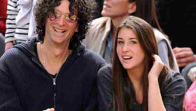 Ashley Jade Stern with her father, Howard Stern