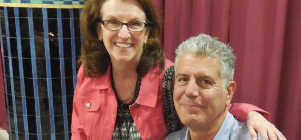 Nancy Putkoski with Anthony Bourdain