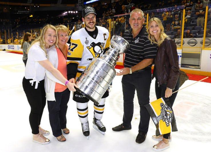 Kathy with her boyfriend's parents