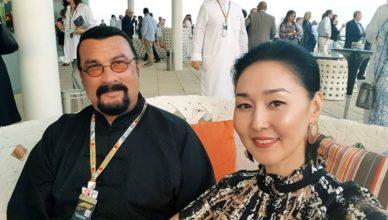 Erdenetuya Segal and husband Steven Segal