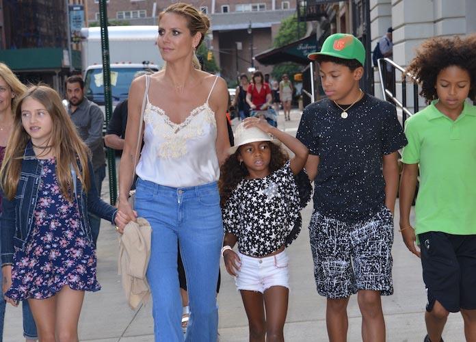 Heidi Klum with children