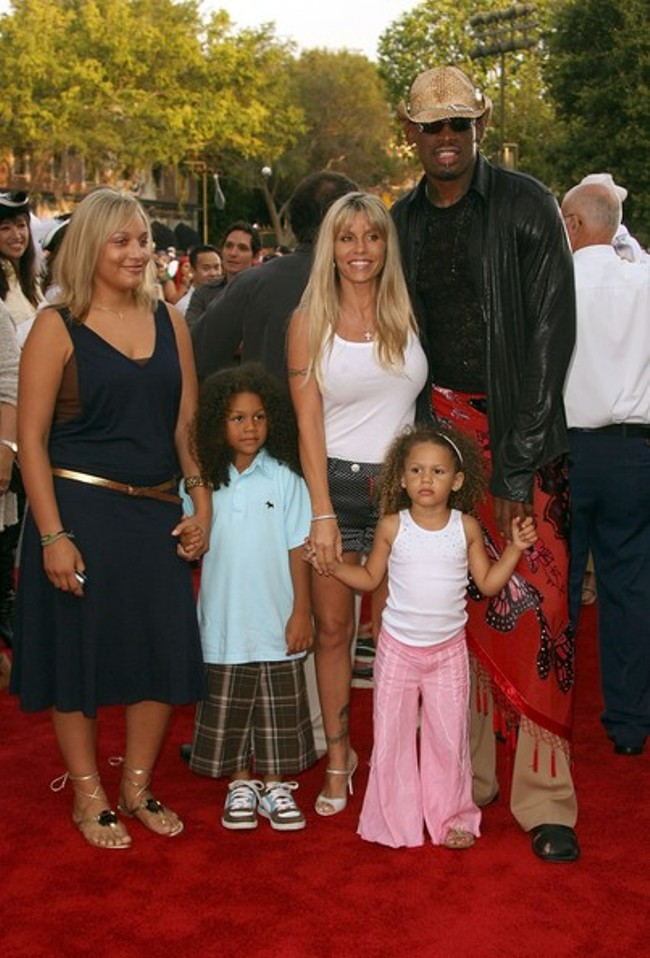 Michelle Moyer's ex-husband, Dennis Rodman and Kids