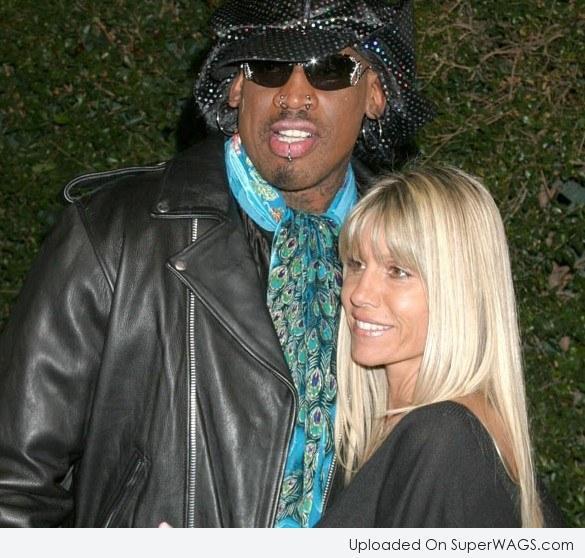 Michelle Moyer and ex-husband, Dennis Rodman