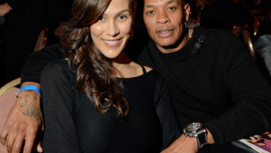 Nicole Young with husband Dr. Dre