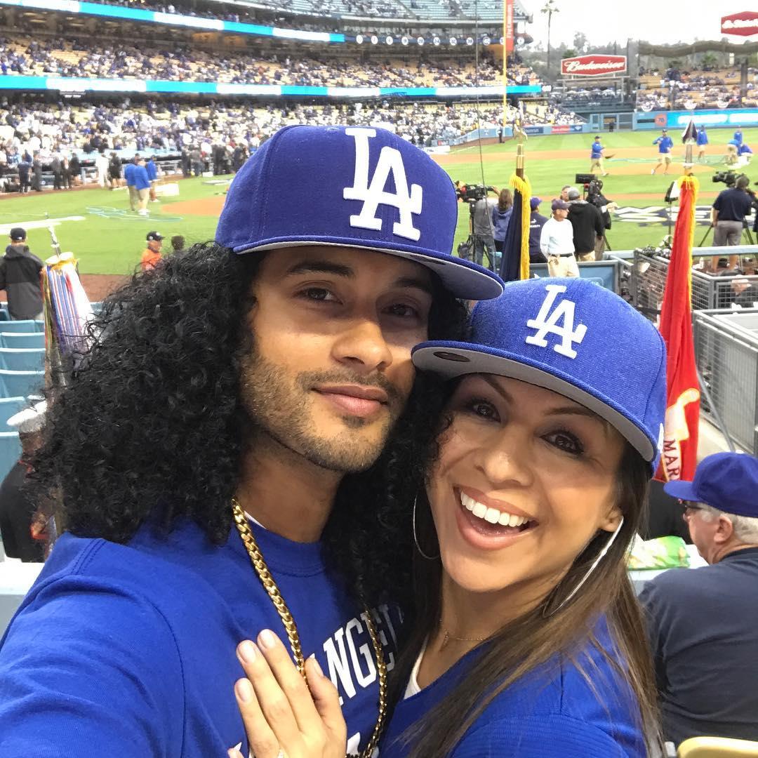 Manwell Reyes and Anjelah Johnson