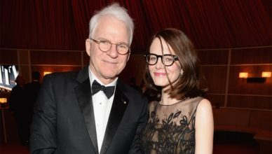 Anne Stringfield with her husband, Steve Martin