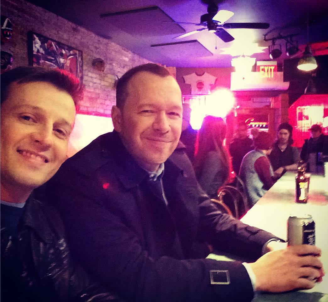 Will Estes with Donnie Wahlberg