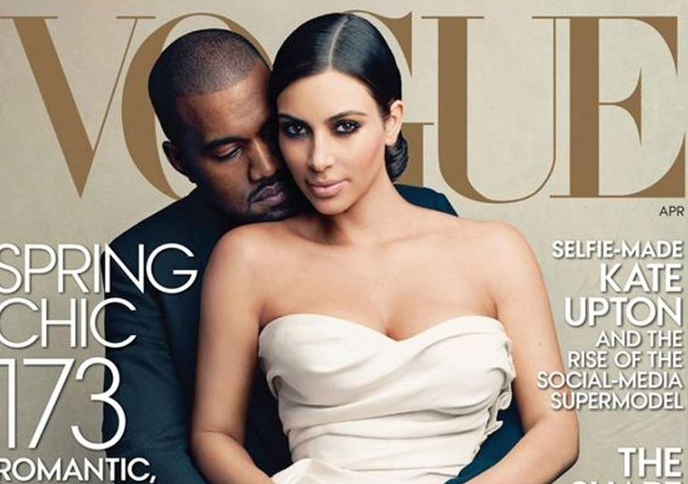 Kanye and Kim on Vogue Cover
