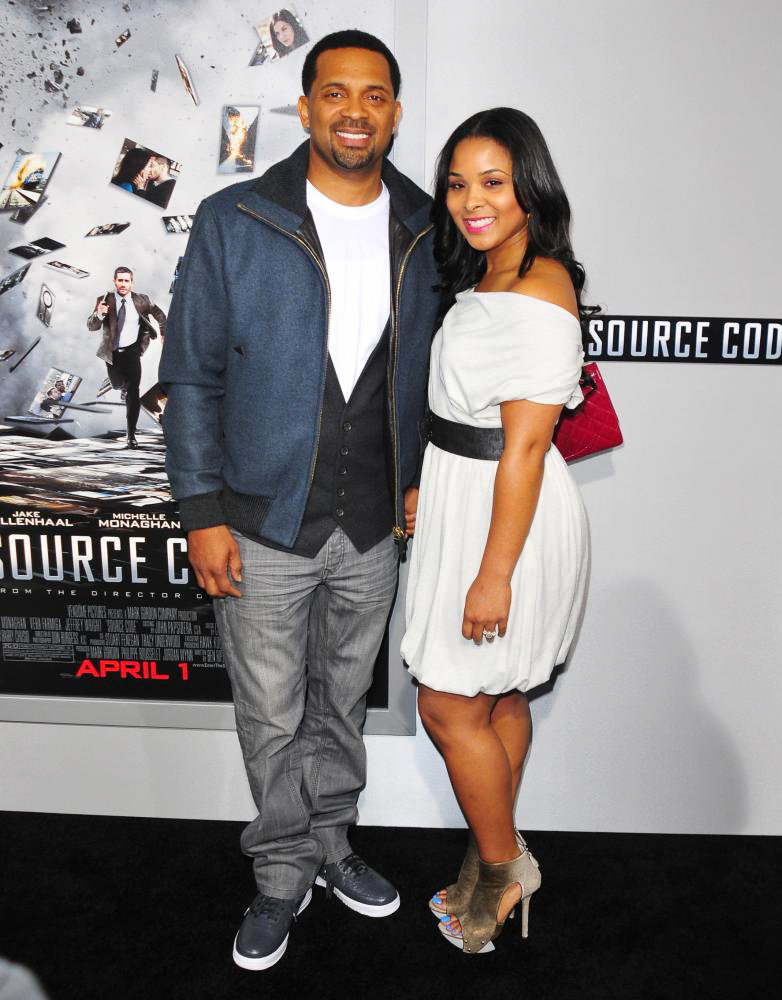 Mike Epps with his ex-wife, Mechelle