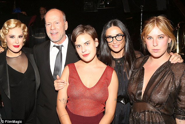 Bruce Willis and ex-wife Demi Morre's three daughters
