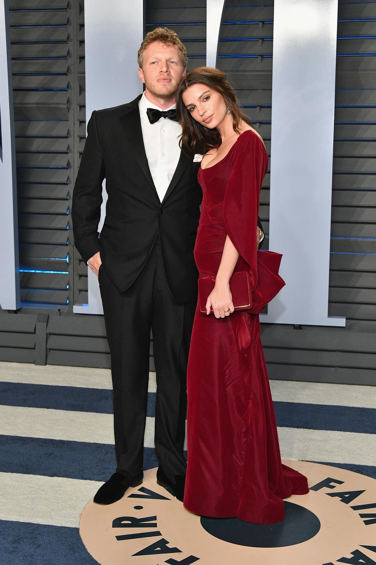 Emily Ratajkowaski with her husband