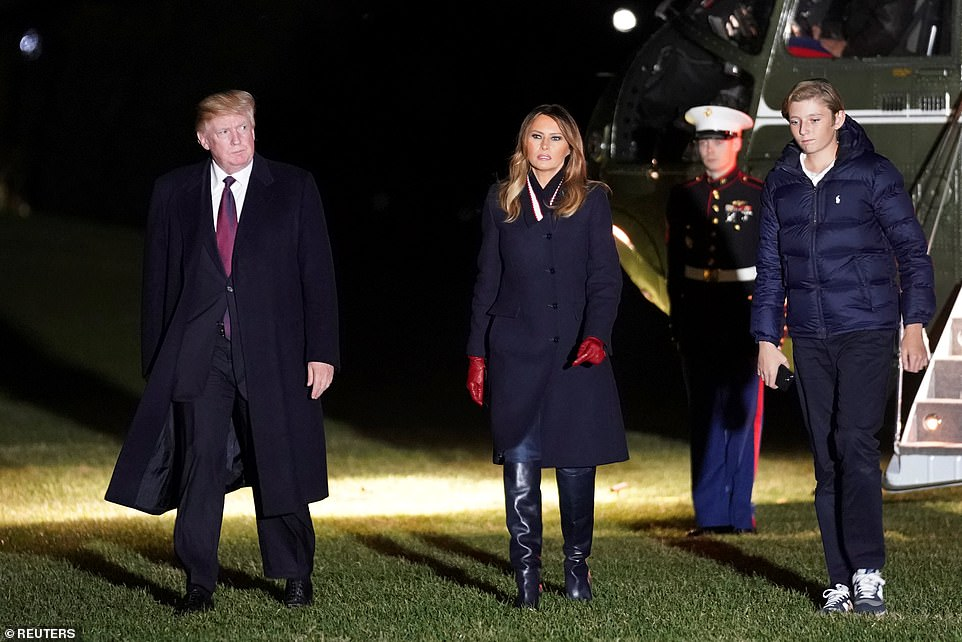 Barron with his parents