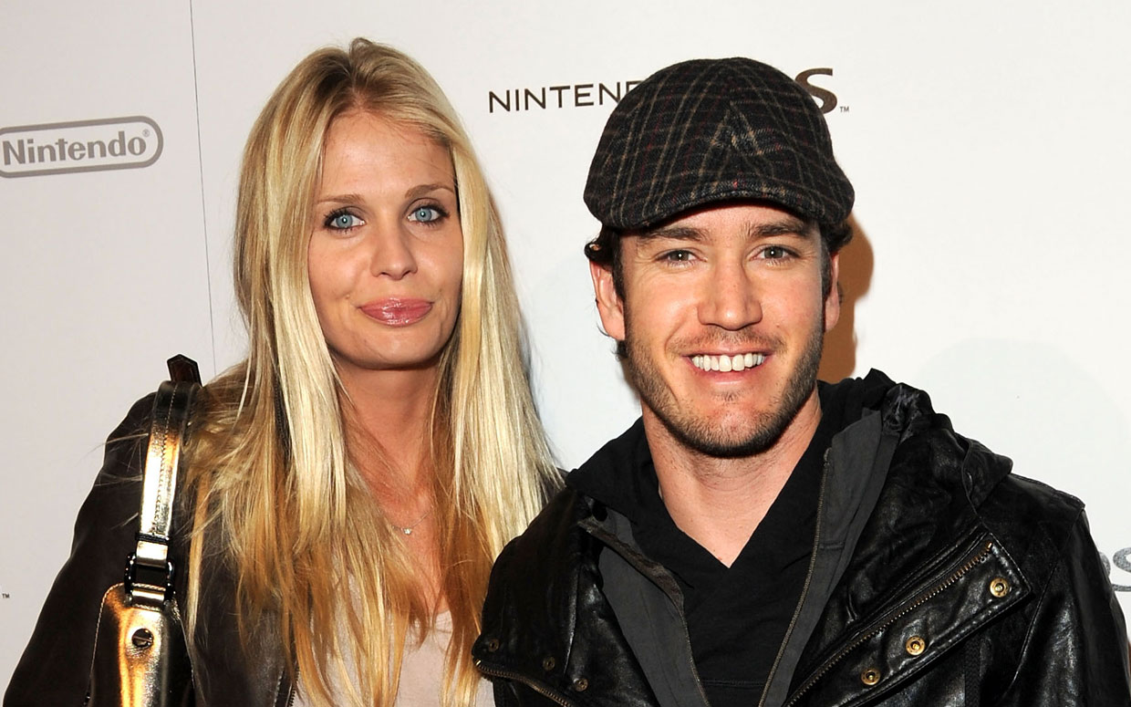 Catriona McGinn with her husband, Mark-Paul Gosselaar