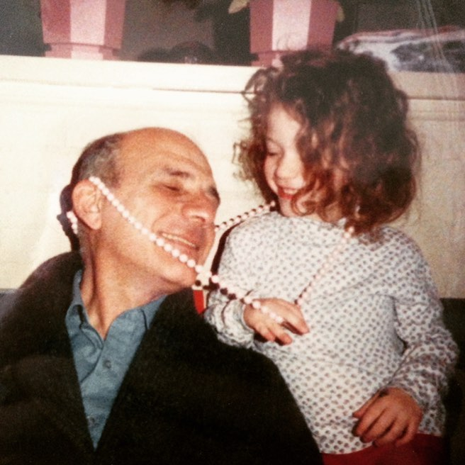 Kat with her father