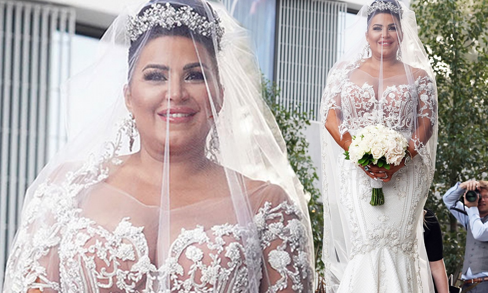 Mercedes Javid at her wedding