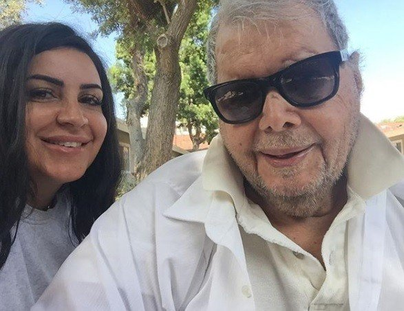 Mercedes Javid with her father