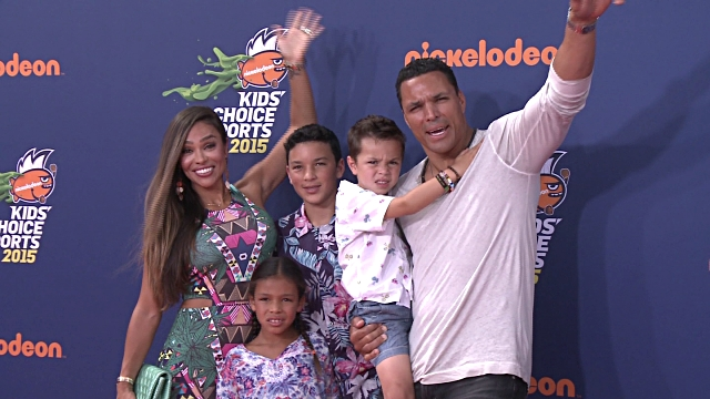 October Gonzlez with her husband and kids