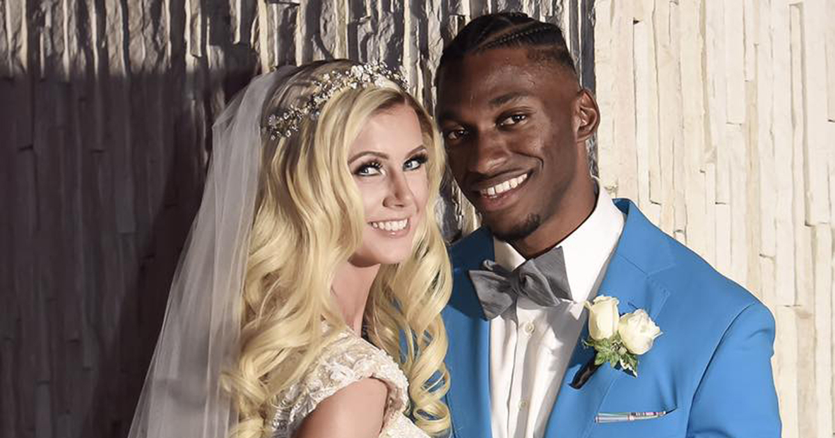 Robert Griffin III with his second wife