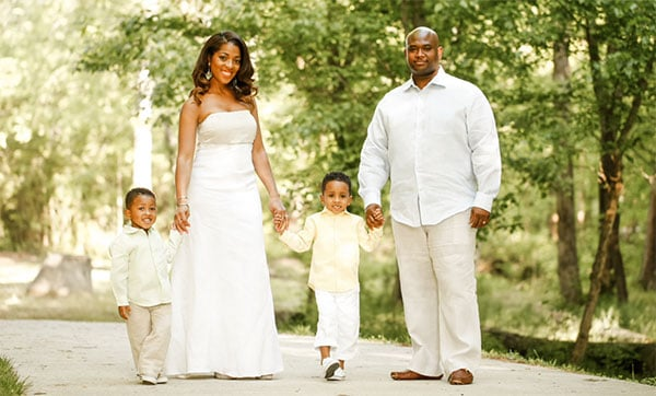 Toya-Bush-Harris-with-her-Husband-Eugene-Harris-and-Kids