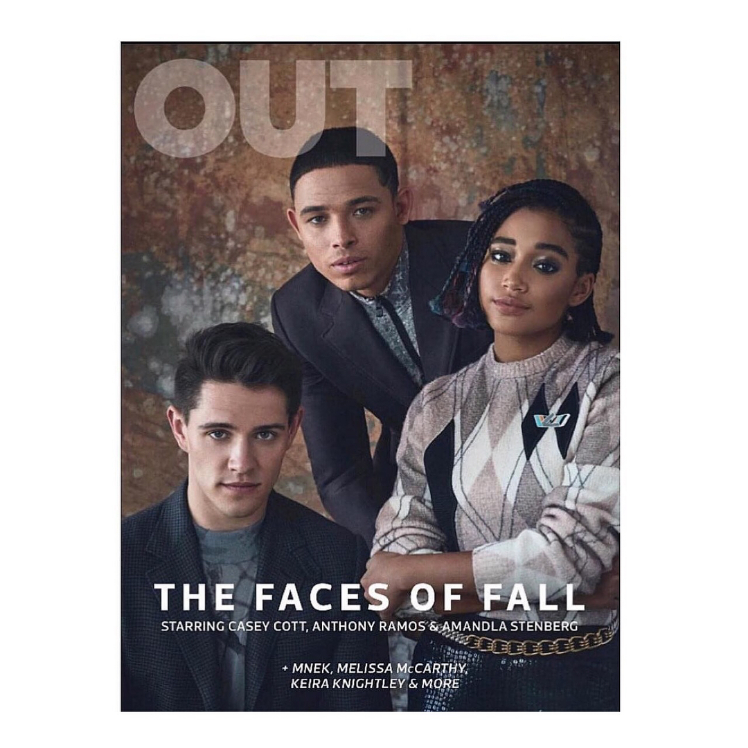 Casey Cott on the cover Magazine of The Faces of Fall