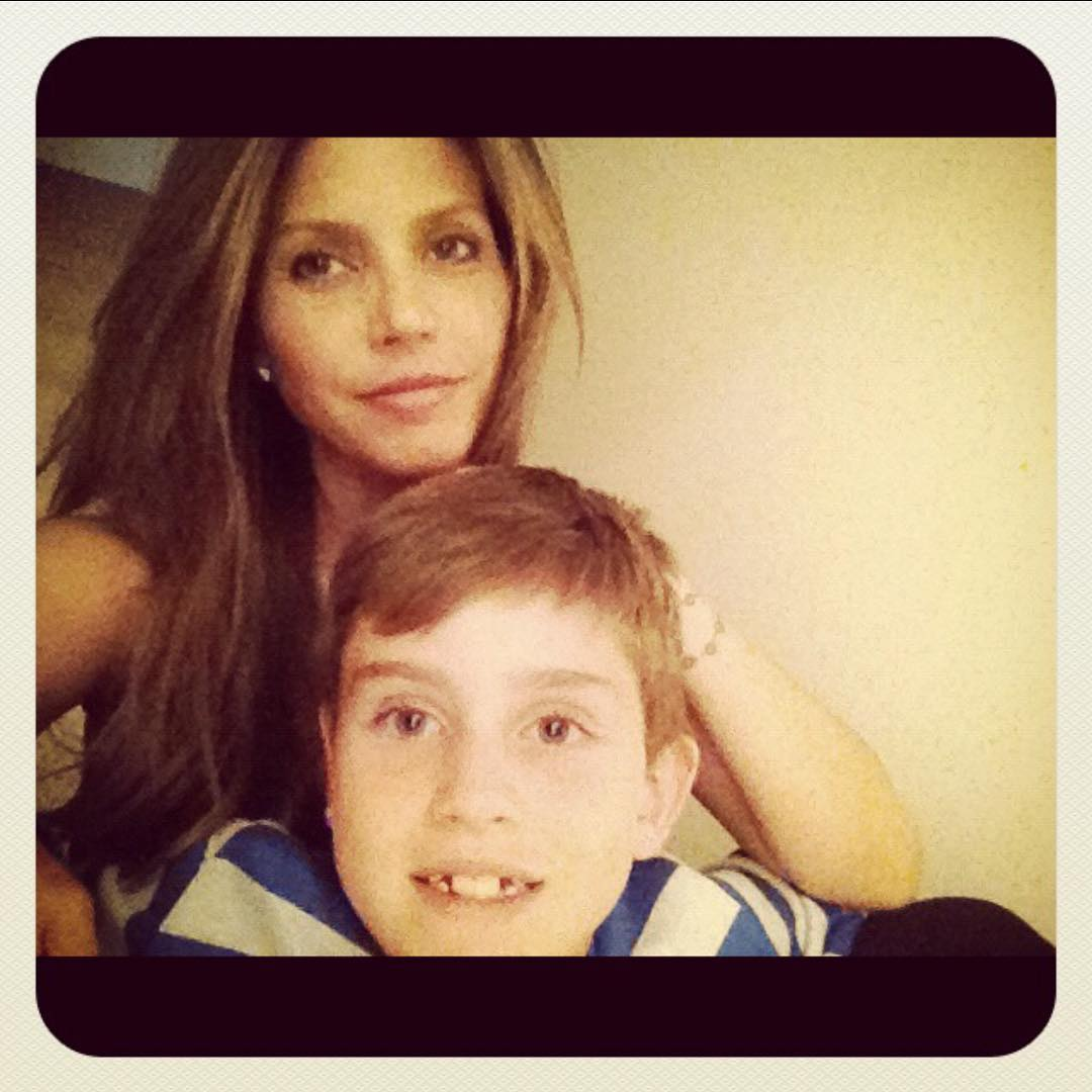 Charisma with her son