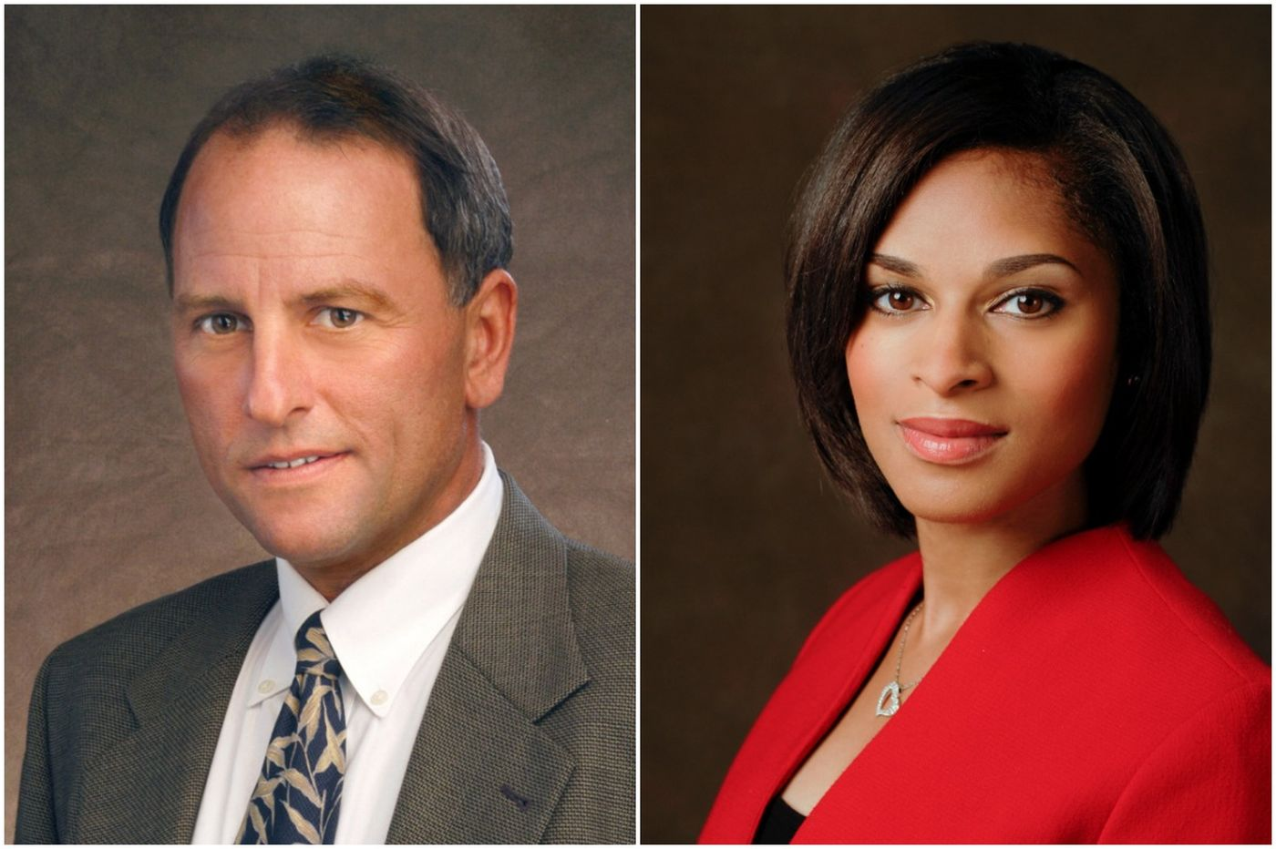 Jeff Fager in left and Jericka Duncan in right