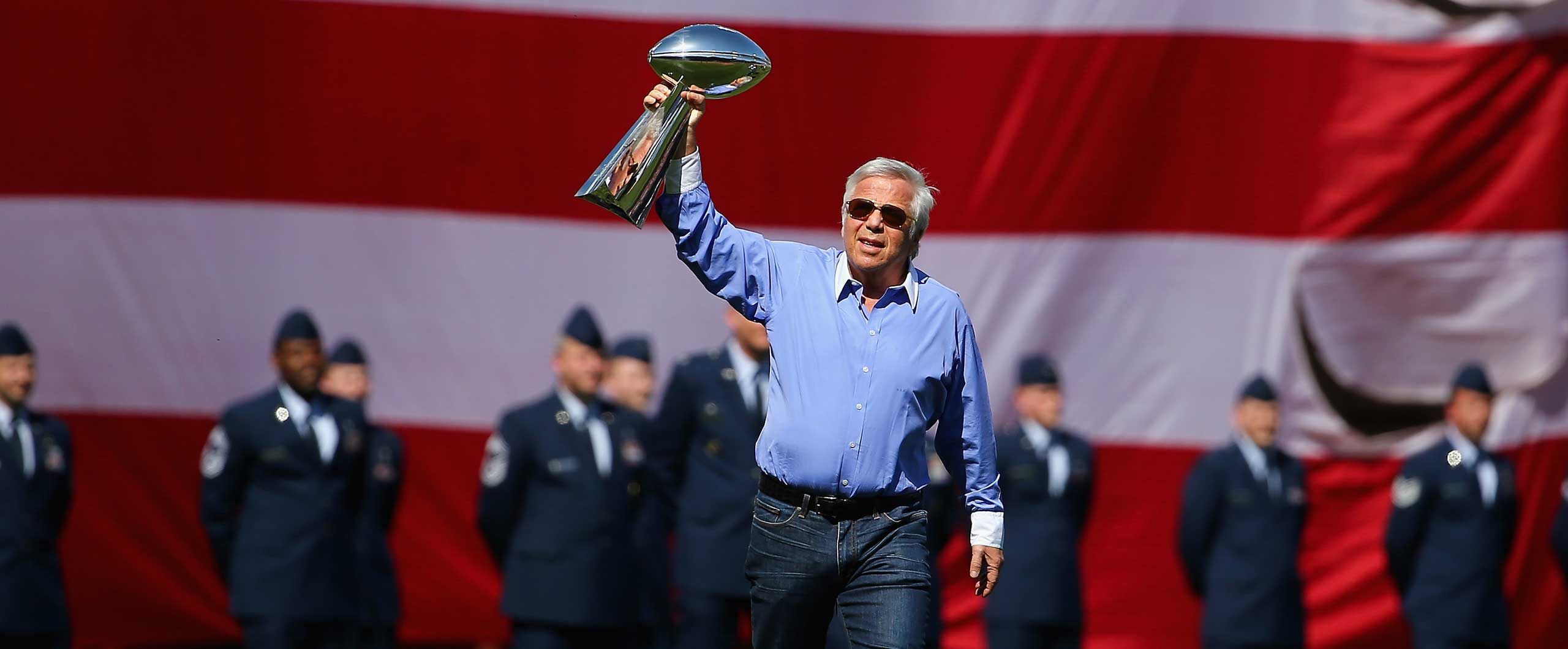 Robert Kraft after the victory of New England Patriots