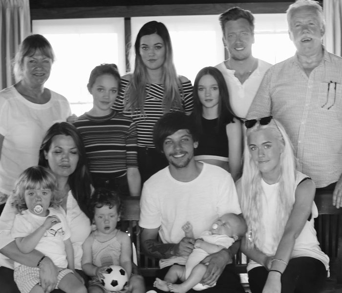 Felicite Tomlinson and family