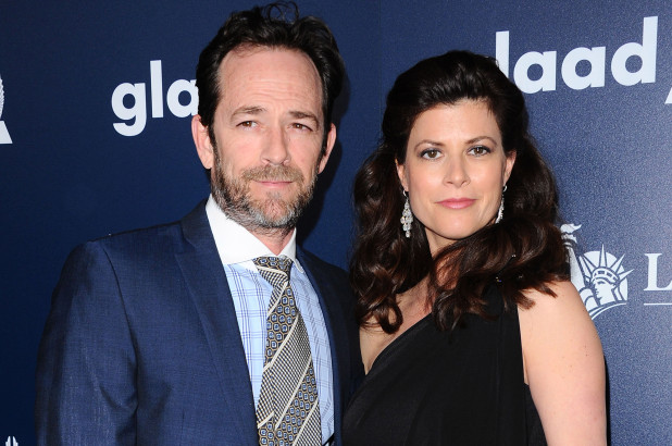 Luke Perry and Wend Madison Bauer