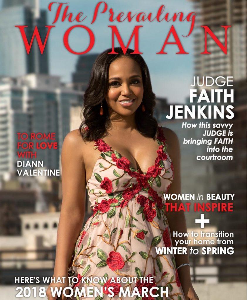 Faith Jenkins on the cover of Women Magazine