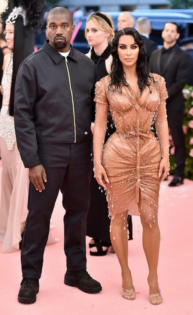 Kanye West and Kim Kardashian West attend The 2019 Met Gala