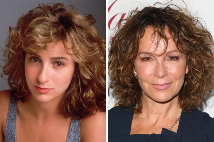 Jennifer Grey now and then