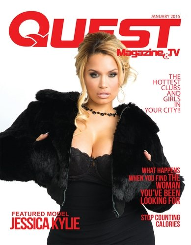 Jessica Kylie on the cover of Quest Magazine