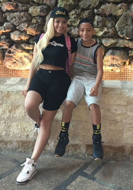 Jessica Kylie with her son