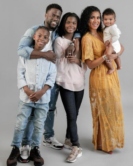 Kevin Hart family, wife, Children